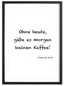 Poster Rahmen Kant